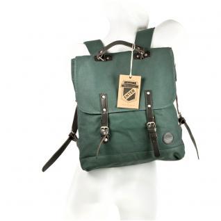 Enter - Großer stylischer Canvas Rucksack / Vintage Rucksack Größe L, Flaschen-Grün, Modell 1304