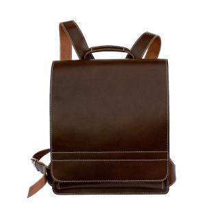 Jahn-Tasche - Sehr Großer Lederrucksack / Lehrer-Rucksack Größe XL aus Leder, Braun, Modell 670 - Vorschau 2