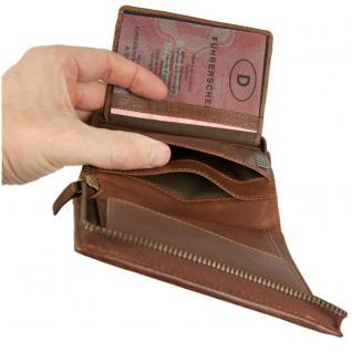 Branco - Große Geldbörse / Portemonnaie Größe L für Herren aus Leder, Hochformat, Braun, Modell 35009 - Vorschau 2