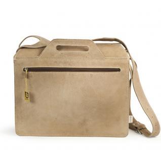 Jahn-Tasche - Große Aktentasche / Lehrertasche Größe XL aus Büffel-Leder, Creme-Beige, Modell 676 - Vorschau 4
