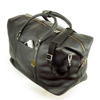 Jahn-Tasche - Große Reisetasche / Weekender Größe L aus Nappa-Leder, Schwarz, Modell 697