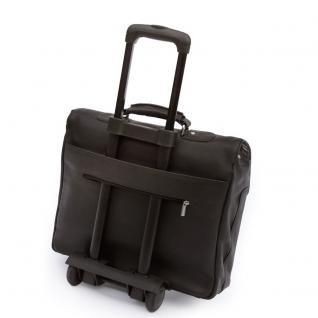 Jahn-Tasche - Elegante Aktentasche Größe L / Laptoptasche bis 15, 6 Zoll, aus Nappa-Leder, Schwarz, Modell 750 - Vorschau 5