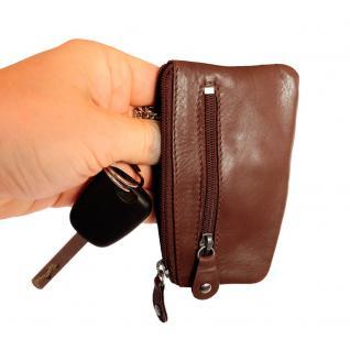 Branco - Schlüsseletui / Schlüsselmäppchen aus Leder, Braun, Modell 029