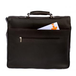 Jahn-Tasche - Elegante Aktentasche Größe L / Laptoptasche bis 15, 6 Zoll, aus Nappa-Leder, Schwarz, Modell 750 - Vorschau 4