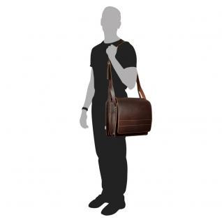 Jahn-Tasche - Große Aktentasche / Lehrertasche Größe XL aus Leder, Braun, Modell 675 - Vorschau 3