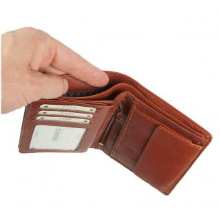 Branco - Große Geldbörse / Portemonnaie Größe L für Herren aus Leder, Hochformat, Braun, Modell 12005 - Vorschau 4