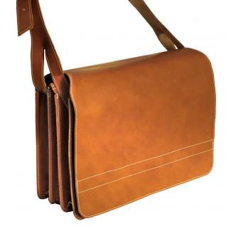 Jahn-Tasche - Sehr Große Aktentasche / Lehrertasche Größe XXL aus Leder, Cognac-Braun, Modell 677 - Vorschau 2