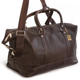 Jahn-Tasche - Kleine Reisetasche / Weekender Größe S aus Nappa-Leder, Braun, Modell 698