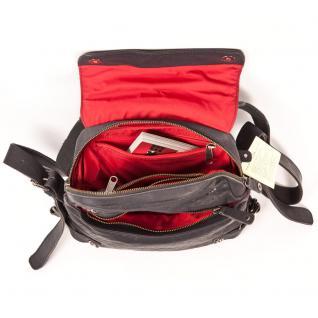 Harolds - Kleiner Lederrucksack Größe S / Rucksack-Handtasche aus Leder, Blau-Schwarz, Modell 223702 - Vorschau 3