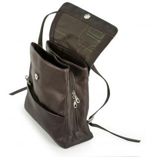 Harolds - Eleganter Lederrucksack Größe M / Rucksack-Handtasche aus Leder, Braun, Modell 445125 - Vorschau 2