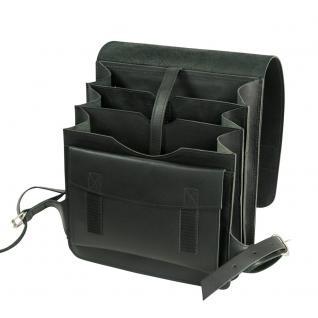 Jahn-Tasche - Mittel-Großer Lederrucksack / Lehrer-Rucksack Größe M aus Leder, Schwarz, Modell 668 - Vorschau 2