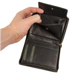 Branco - Große Geldbörse / Portemonnaie Größe L für Herren aus Leder, Hochformat, Schwarz, Modell 35009 - Vorschau 5