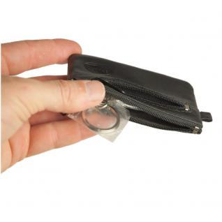 Branco - Kleines Schlüsseletui / Schlüsselmäppchen aus Leder, Schwarz, Modell 019 - Vorschau 4