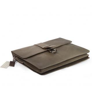 Harolds - Schmale Aktentasche / Aktenmappe Größe S aus Leder, Taupe-Grau, Modell 293835 - Vorschau 4