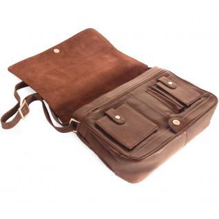 Branco - Damen-Handtasche Größe M / Umhängetasche aus Echt-Leder, Braun, Modell 5584 - Vorschau 5