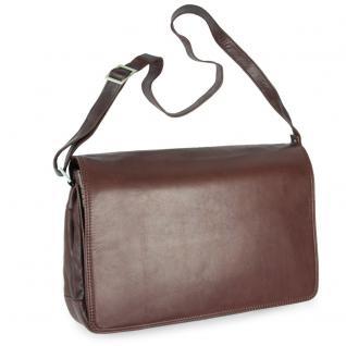 Branco - Damen-Handtasche Größe M / Umhängetasche aus Echt-Leder, Braun, Modell 5584 - Vorschau 2