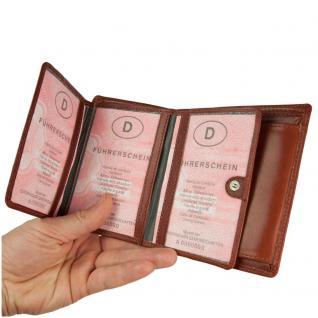 Branco - Große Geldbörse / Portemonnaie Größe L für Herren aus Leder, Hochformat, Braun, Modell 12005 - Vorschau 3