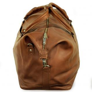 Jahn-Tasche - Große Reisetasche / Weekender Größe L aus Nappa-Leder, Cognac-Braun, Modell 697 - Vorschau 5