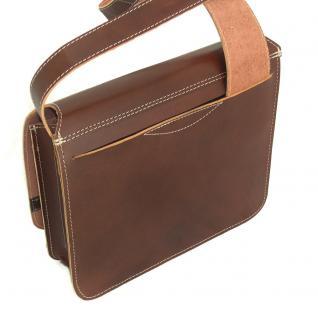 Jahn-Tasche - Umhängetasche Größe M / Messenger Bag aus Leder, Braun, Modell 680 - Vorschau 4