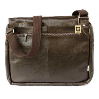 Jahn-Tasche - Elegante Laptoptasche Größe M / Notebooktasche bis 14 Zoll, aus Nappa-Leder, Braun, Modell 438 - Vorschau 5