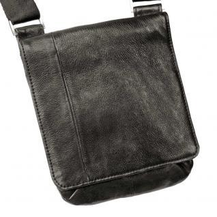 Jahn-Tasche - Kleine Umhängetasche Größe S / Handtasche aus Nappa-Leder, A5 Hochformat, Schwarz, Modell 418