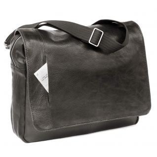 Jahn-Tasche - Elegante Laptoptasche Größe M / Notebooktasche bis 14 Zoll, aus Nappa-Leder, Schwarz, Modell 438