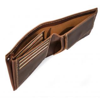 Branco - Mittel-Große Geldbörse / Portemonnaie Größe M für Herren aus Leder, Querformat, Braun, Modell 14405 - Vorschau 2