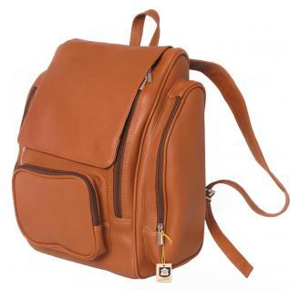 Jahn-Tasche - Sehr Großer Lederrucksack Größe XL / Laptop Rucksack bis 15, 6 Zoll, Cognac-Braun, Modell 709