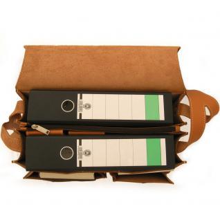 Jahn-Tasche - Große Aktentasche / Lehrertasche Größe XL aus Leder, Cognac-Braun, Modell 675 - Vorschau 3