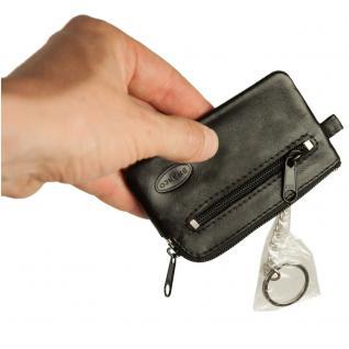Branco - Kleines Schlüsseletui / Schlüsselmäppchen aus Leder, Schwarz, Modell 019 - Vorschau 3