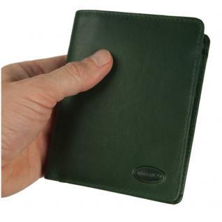 Branco - Große Geldbörse / Portemonnaie Größe L für Herren aus Leder, Hochformat, Jäger-Grün, Modell 12005