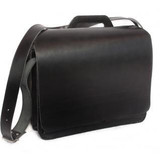 Jahn-Tasche - Große Aktentasche / Lehrertasche Größe XL aus Leder, Schwarz, Modell 676