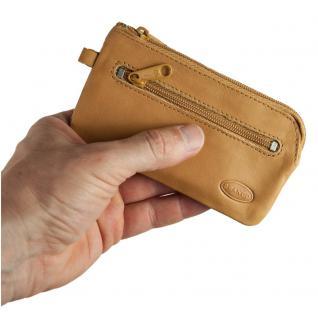Branco - Großes Schlüsseletui / Schlüsselmäppchen aus Leder, Natur-Beige, Modell 018