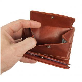 Branco - Große Geldbörse / Portemonnaie Größe L für Herren aus Leder, Hochformat, Braun, Modell 12005 - Vorschau 5