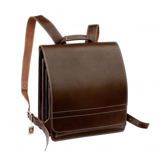 Jahn-Tasche - Sehr Großer Lederrucksack / Lehrer-Rucksack Größe XL aus Leder, Braun, Modell 670 - Vorschau 3