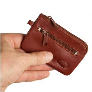 Branco - Kleines Schlüsseletui / Schlüsselmäppchen aus Leder, Braun, Modell 019
