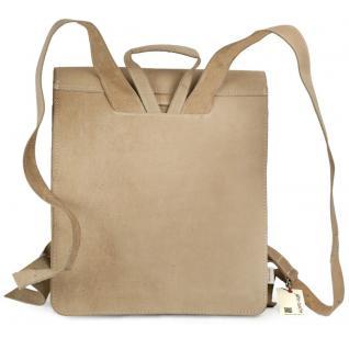 Jahn-Tasche - Sehr Großer Lederrucksack / Lehrer-Rucksack Größe XL aus Büffel-Leder, Creme-Beige, Modell 670 - Vorschau 3