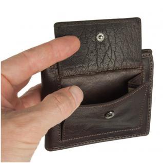 Branco - Kleine Geldklammer Geldbörse / Dollarclip Portemonnaie Größe S für Herren aus Leder, Braun, Modell 16749 - Vorschau 4