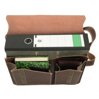 Jahn-Tasche - Umhängetasche Größe M / Messenger Bag aus Leder, Braun, Modell 680 - Vorschau 2
