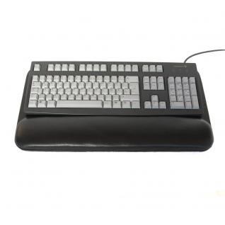 Hamosons - PC Tastaturauflage / Handballenauflage, aus Echt-Leder, Schwarz, Modell 26302