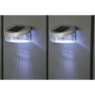 Zaun Solarlichter 2er Set Gartenlicht Gartenzaun Gartenlampe Licht Leuchte Neu