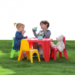 Kinder Sitzgruppe Kindertisch Kinderstühle Sitzgarnitur Kindermöbel Gartenmöbel