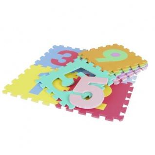 Puzzlematte Zahlen 9-teilig Spielteppich Spielmatte Puzzleteppich Bodenpuzzle