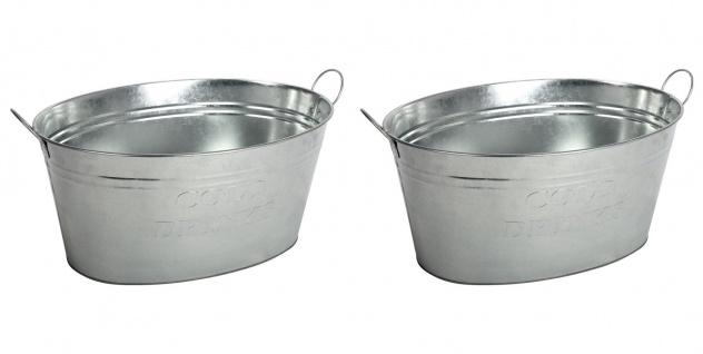 2x Zinkwanne Pflanzkübel Blumenkübel Gartendeko Getränkekühler Flaschenkühler