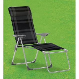 Liegesessel schwarz grau Relaxliege Sonnenliege Klappstuhl Gartenstuhl Camping