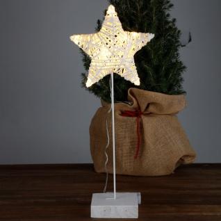 LED Deko-Stern mit Timer Weihnachtsbeleuchtung Weihnachtsdeko Adventsstern