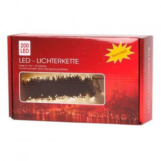 LED-Außen-Lichterkette 16Meter Weihnachtsbeleuchtung Partylicht Garten Dekolicht