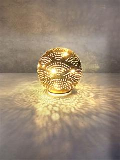 LED-Deko-Kugel 12cm warmweiß Licht Tischdeko Dekolampe Glaskugel Beleuchtung