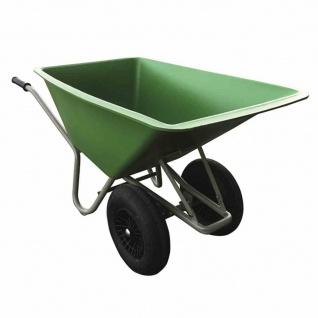 Schubkarre 160 L 2-rädrig grüne HDPE-Mulde