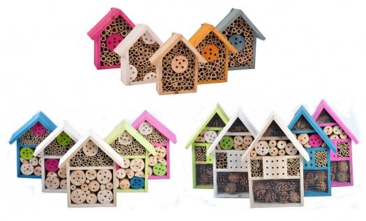 Insektenhotel aus Holz und Bambus Insektenhaus Nistkasten Nisthilfe Gartendeko